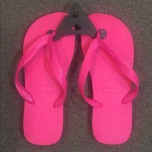 Havaianas Pink Flip Flops Size 4/5 New